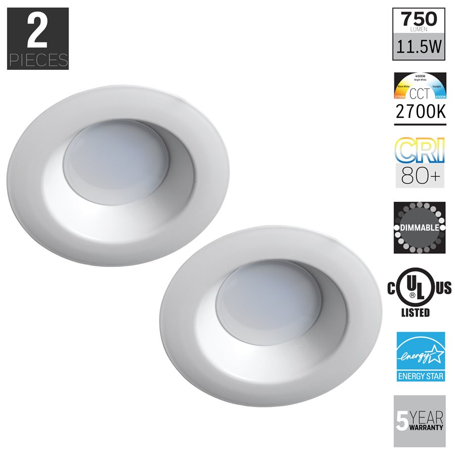 Honeywell FP0962 LED Non-Adjustable Down Light 2 Pack | Honeywell ...