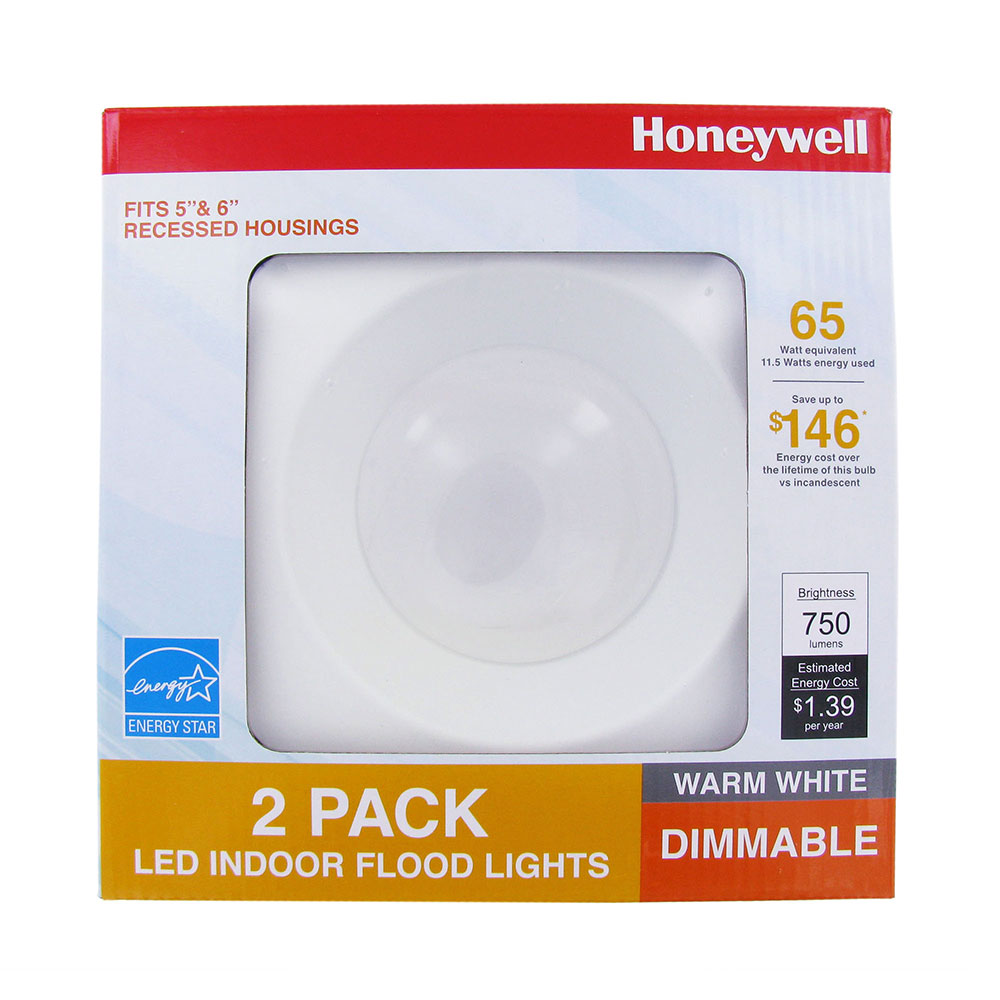 Honeywell 65W Equivalent LED Indoor Flood Light - 2 Pack, FP0962