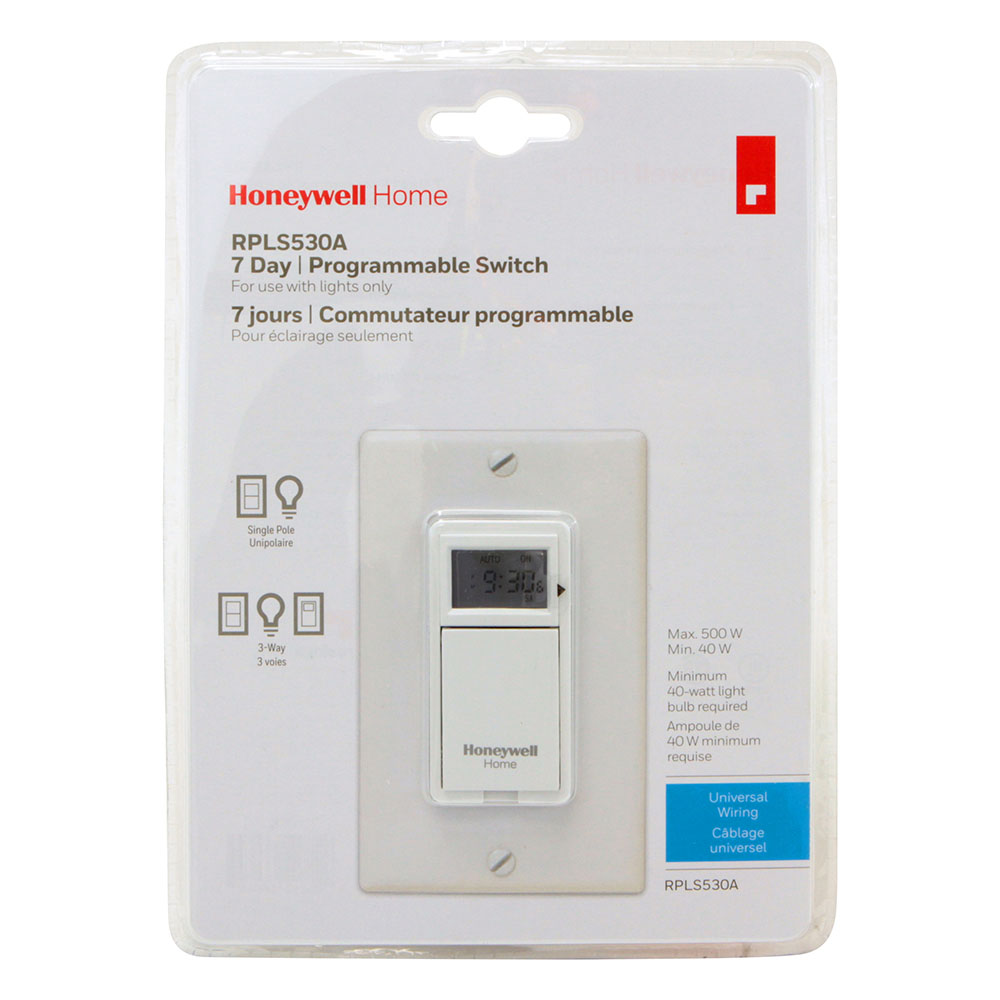 Honeywell Rpls530a1038 U 7 Day Programmable Light Switch Timer White