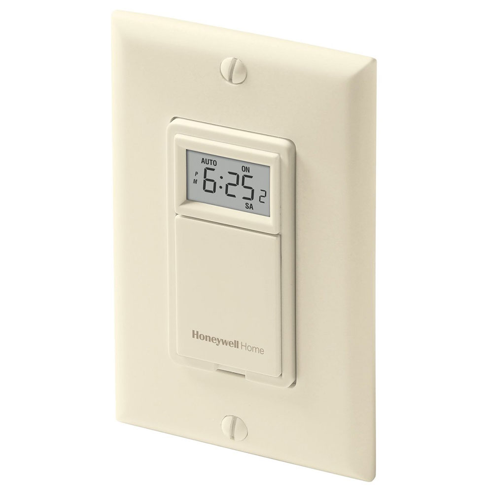 Honeywell RPLS731B1009/U 7-Day Programmable Light Switch Timer (Almond)