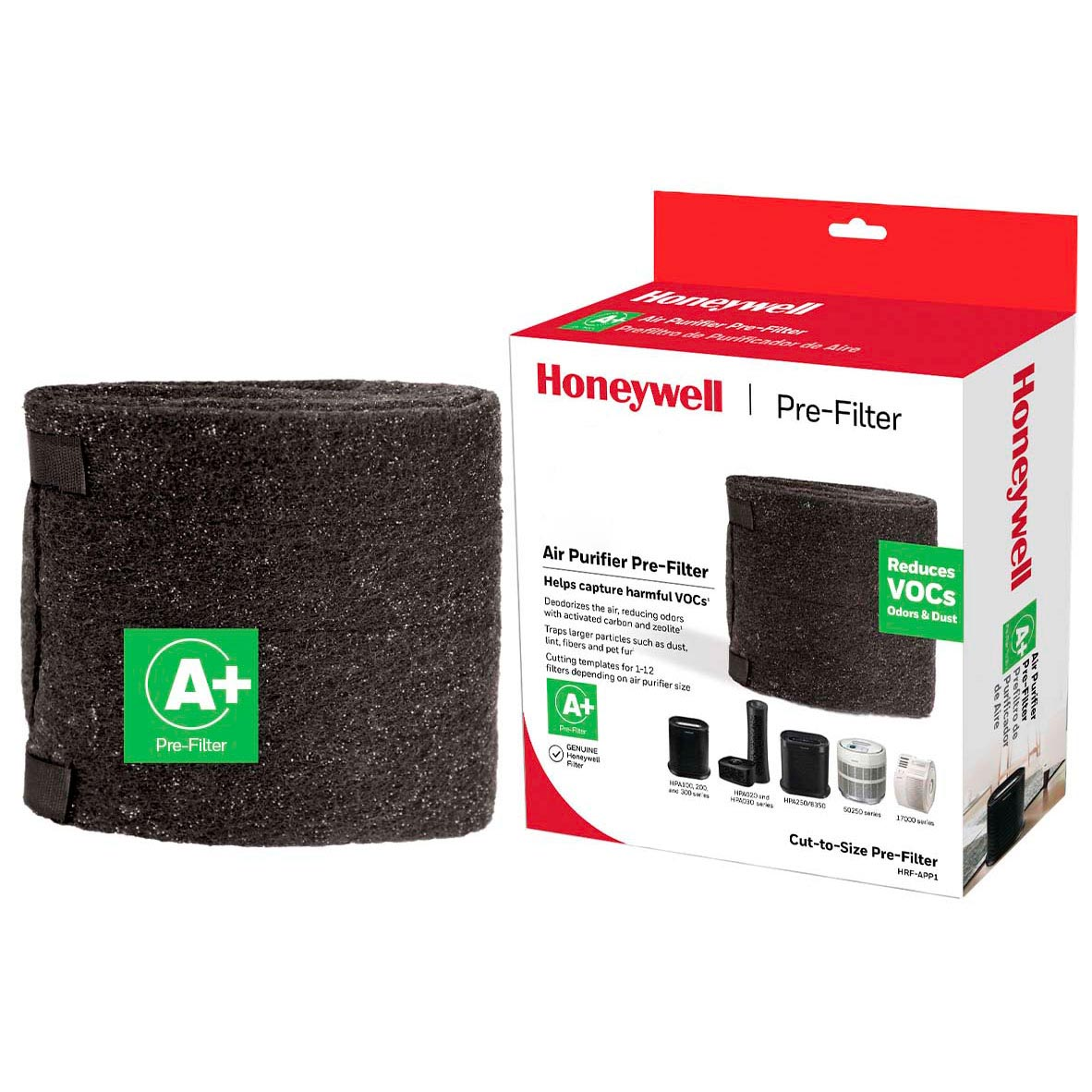 Honeywell Filter A Household Odor & Gas Reducing Universal Pre-filter, HRF-APP1