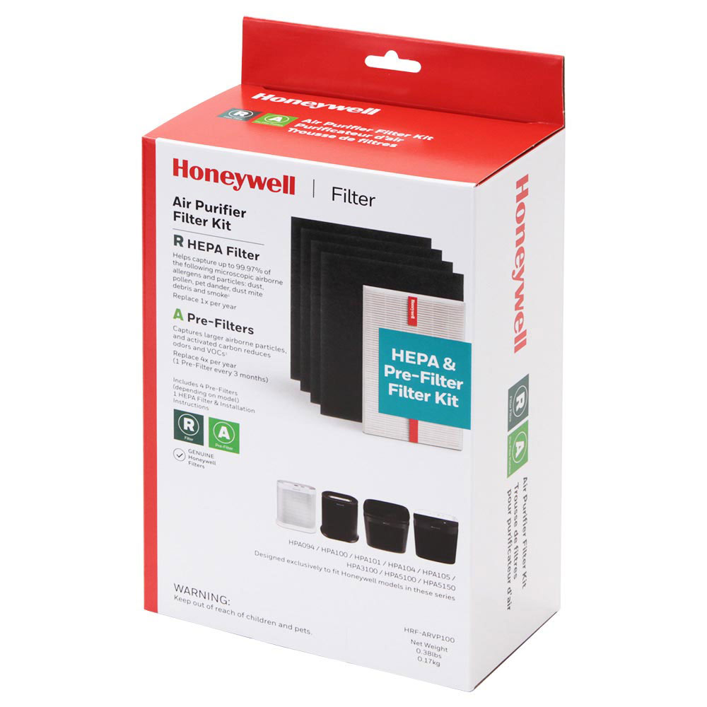 Honeywell HRF-ARVP100 HEPA Filter & Pre-Filter Combo Pack For HPA100 & HPA094 Series Air Purifiers (Filters A/R)