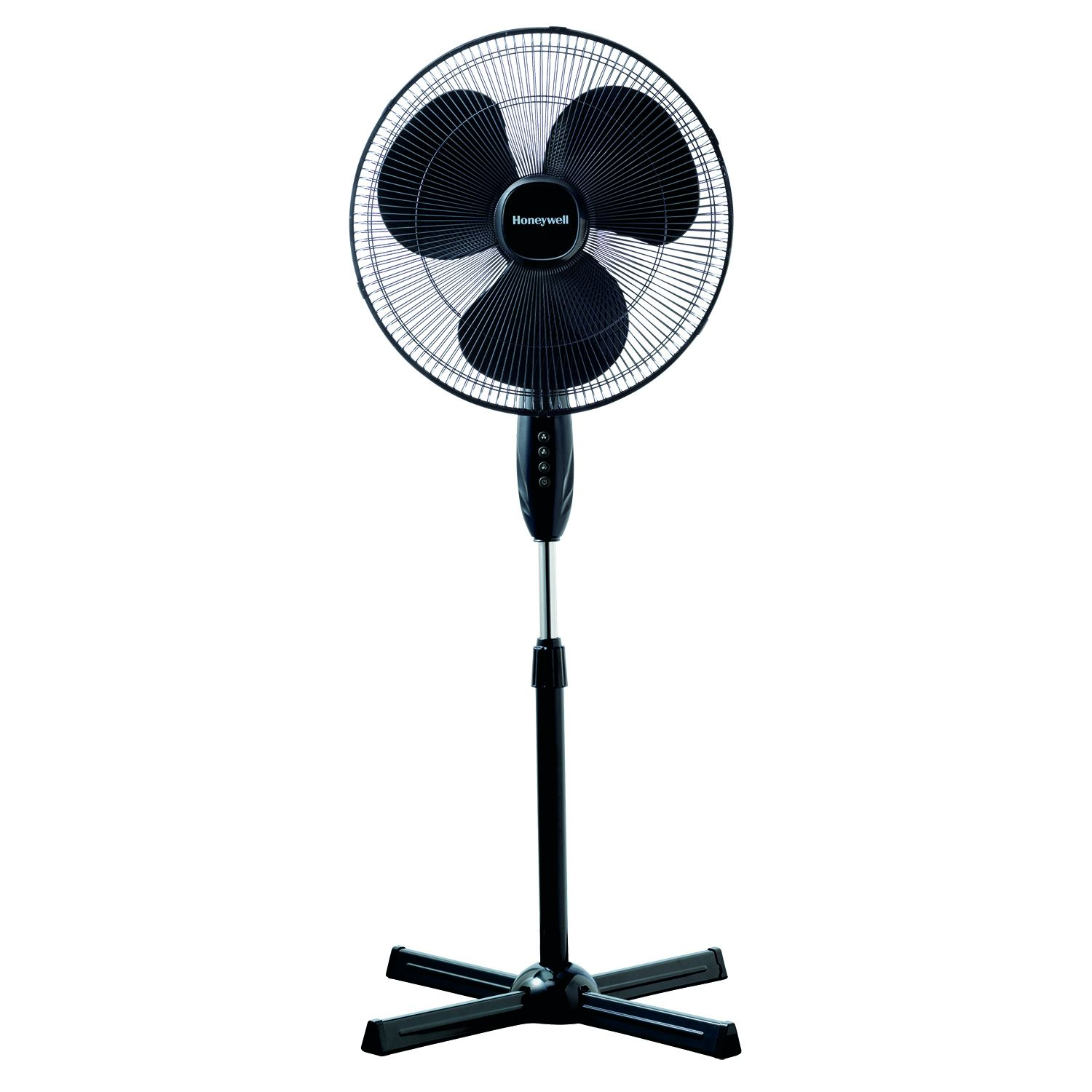 Honeywell Stand Fan : The honeywell hsf b quietset quot stand fan black