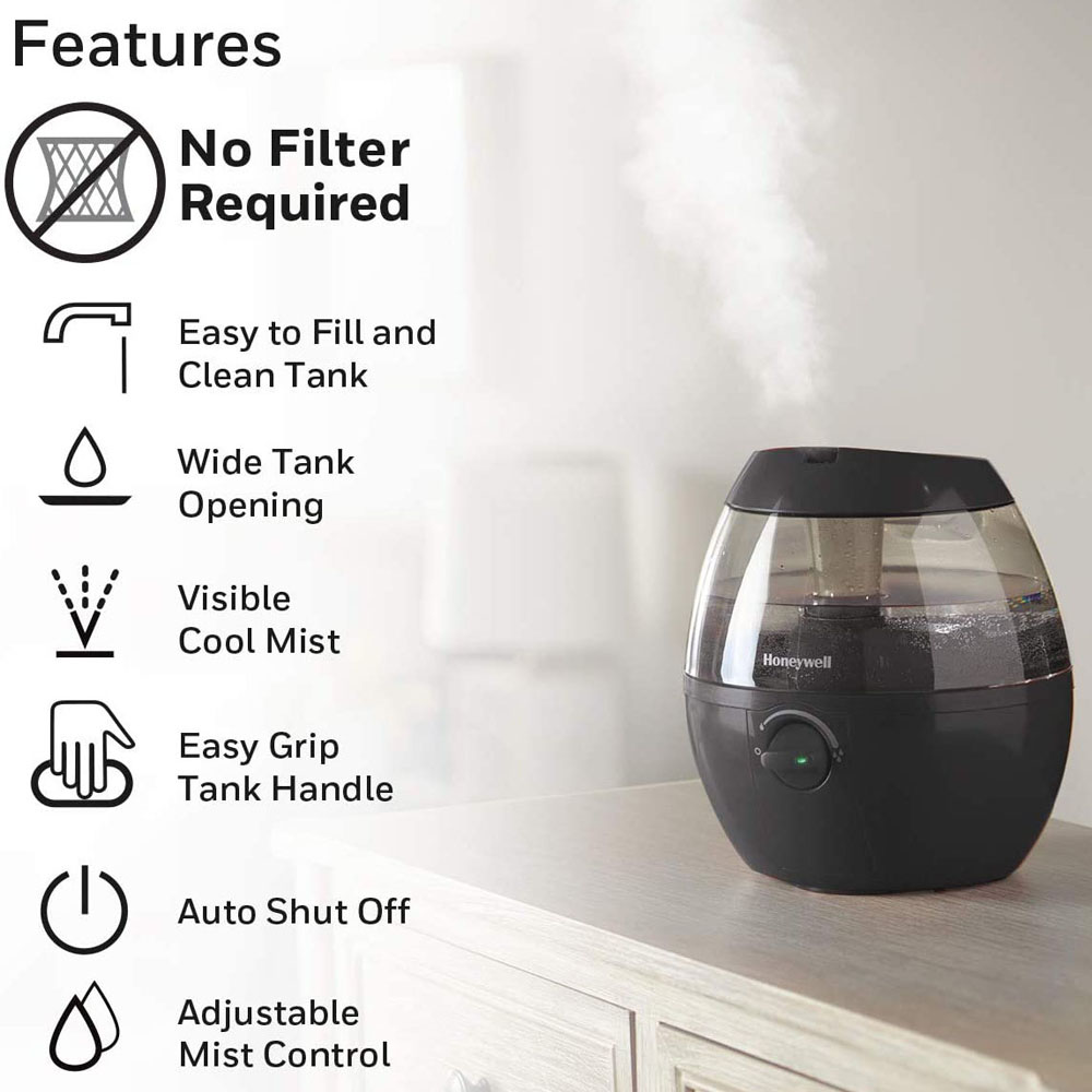 Honeywell Mist Mate Cool Mist Humidifier Black, HUL520B