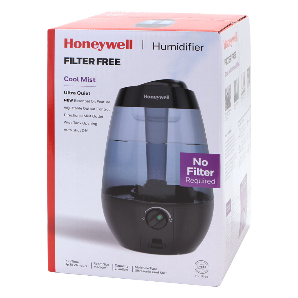 Honeywell Ultrasonic Cool Mist Humidifier - Black, HUL535B