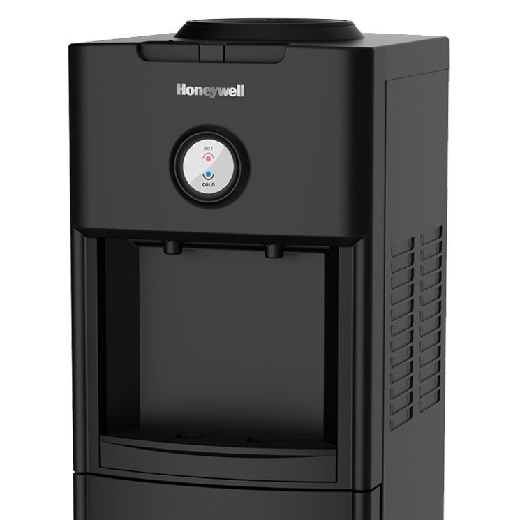 Honeywell 34-Inch Freestanding Toploading Water Cooler, Hot & Cold Temperatures with Thermostat Control, Black - HWB1062B