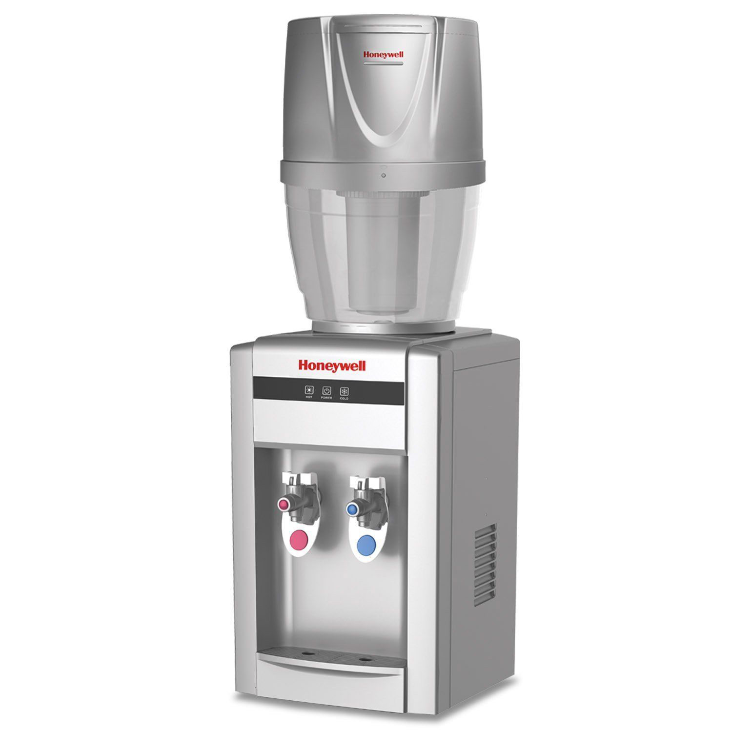 Honeywell 21-Inch Tabletop Water Cooler Dispenser with Filtration System, Silver - HWB2052SHWB101S