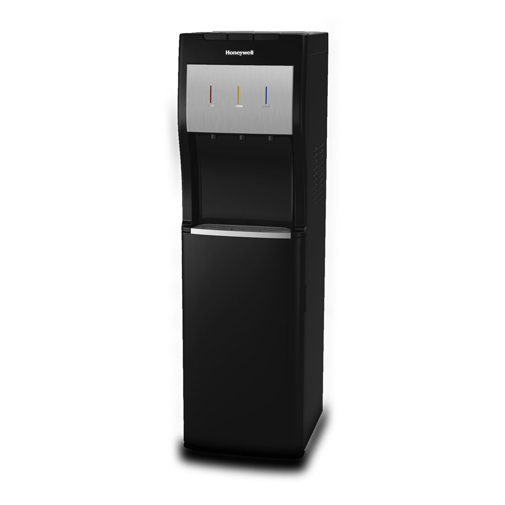 Honeywell 40-Inch Freestanding Bottom Loading Water Cooler Dispenser, Black - HWBL1013B