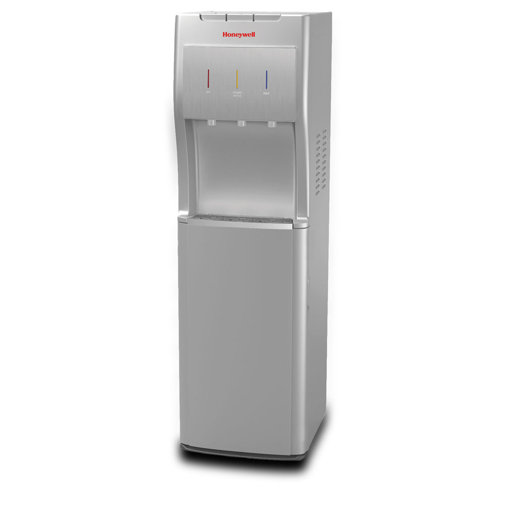 Honeywell 40-Inch Freestanding Bottom Loading Water Cooler Dispenser, Silver - HWBL1013S2