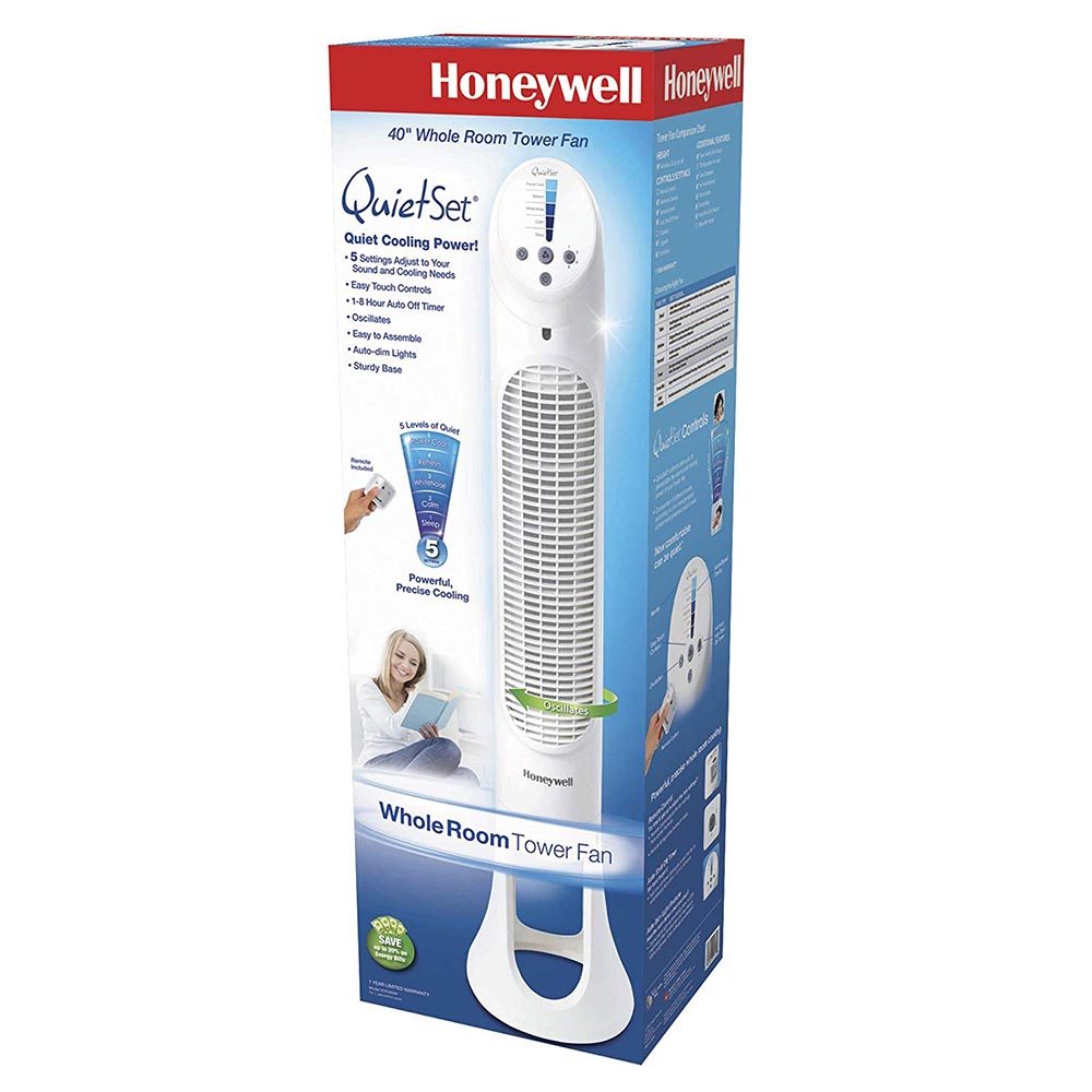 Honeywell QuietSet Whole Room Tower Fan - White, HYF260W