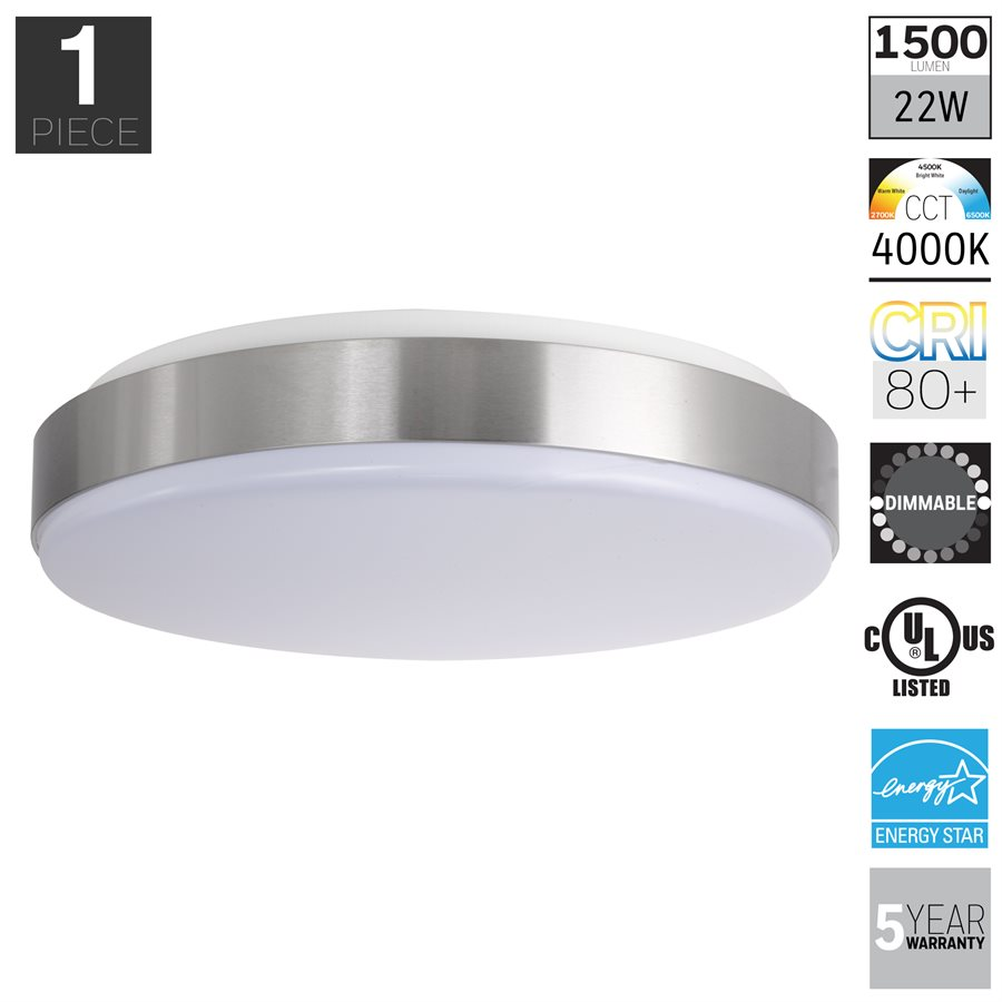 Honeywell LED Indoor Ceiling Light, 1500 Lumen, KT115D41110