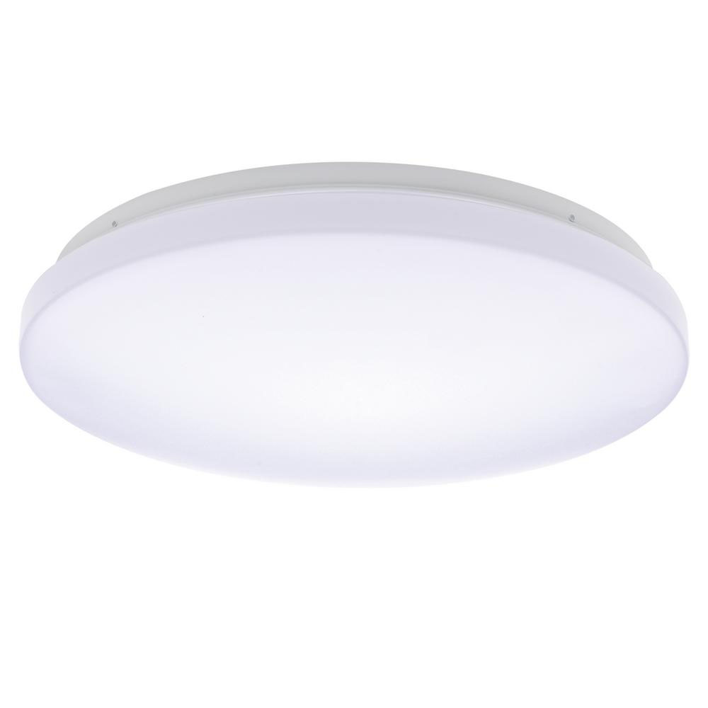 Honeywell white led 11 in round ceiling light 1100 lumen kw411d801110