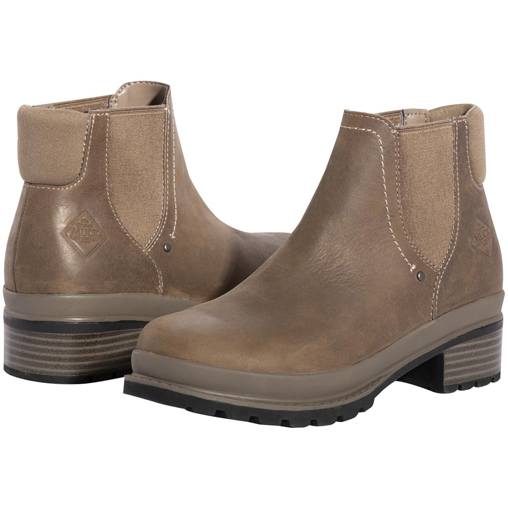 Muck Women's Liberty Chelsea Boot, Taupe - LWC-101