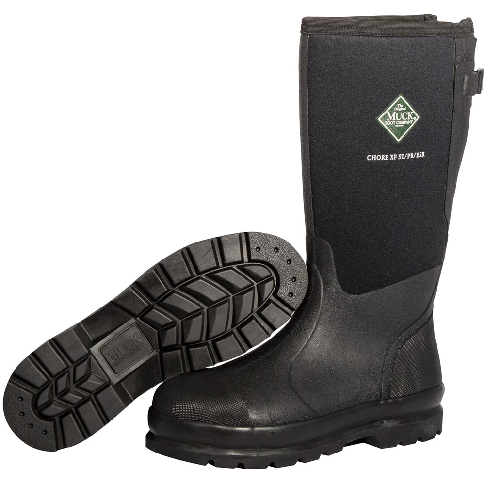 Muck Men's Chore Classic Steel Toe Wide Calf Boot, Black - MCXF-STL