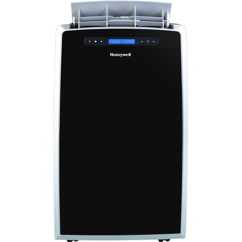 Honeywell MM14CCS Portable Air Conditioner, 14,000 BTU Cooling, LCD Display, Single Hose (Black-Silver)