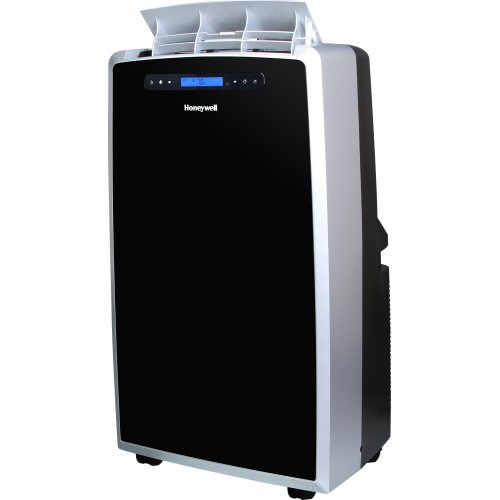 Honeywell MM14CCS Portable Air Conditioner, 14,000 BTU Cooling, LCD  Display, Single Hose (Black Silver)