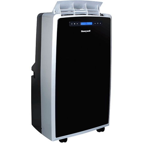 Honeywell MM14CHCS Portable Air Conditioner, 14,000 BTU Cooling & Heating, LCD Display, Single Hose (Black-Silver)