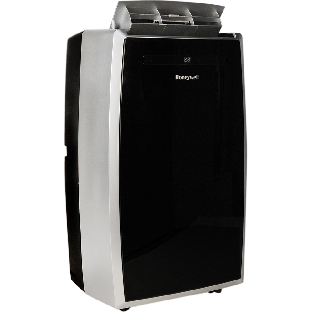 Honeywell MN12CES Portable Air Conditioner, 12,000 BTU Cooling, LED Display, Single Hose (Black-Silver)