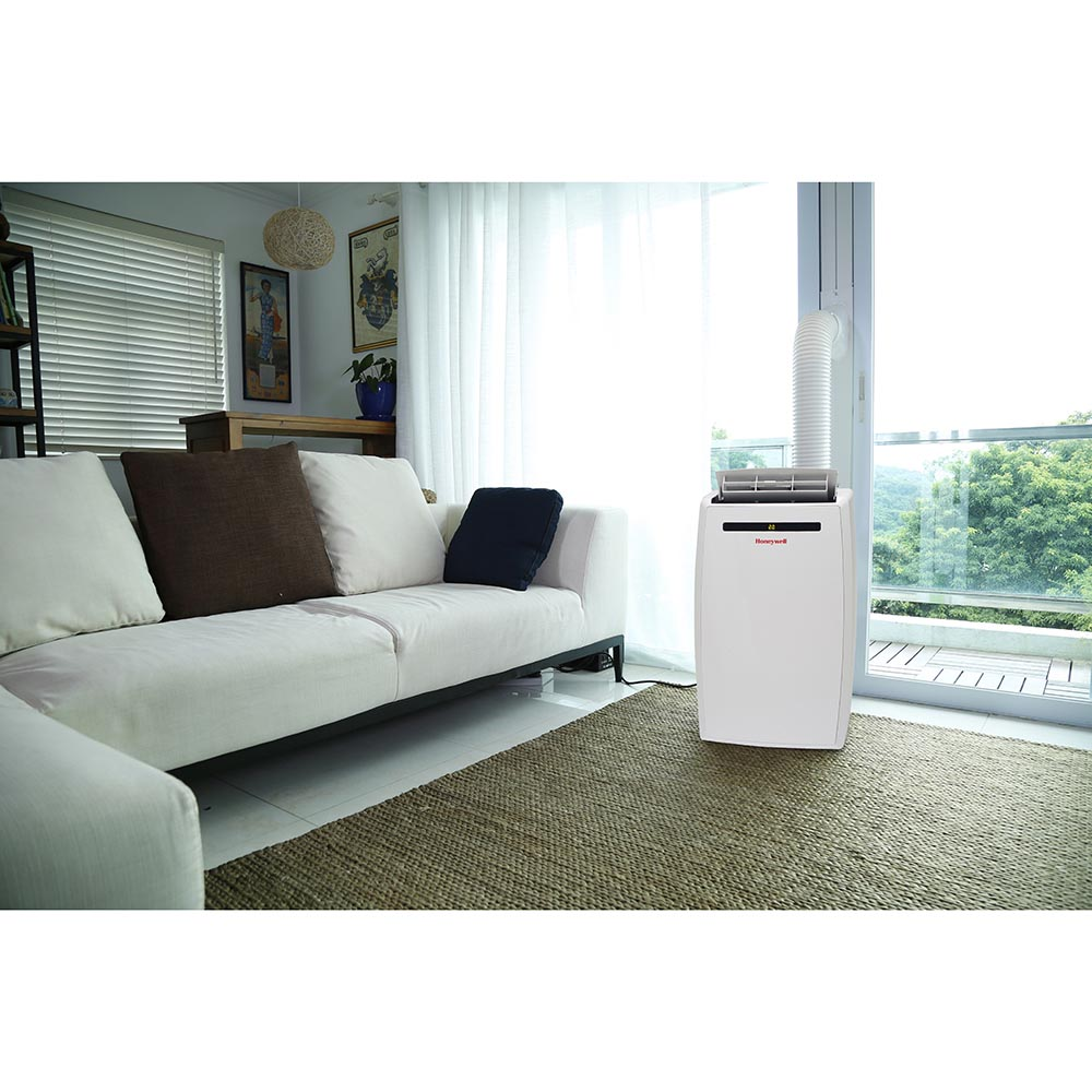 Honeywell MN12CESWW Portable Air Conditioner, 12,000 BTU Cooling, LED Display, Single Hose (White)