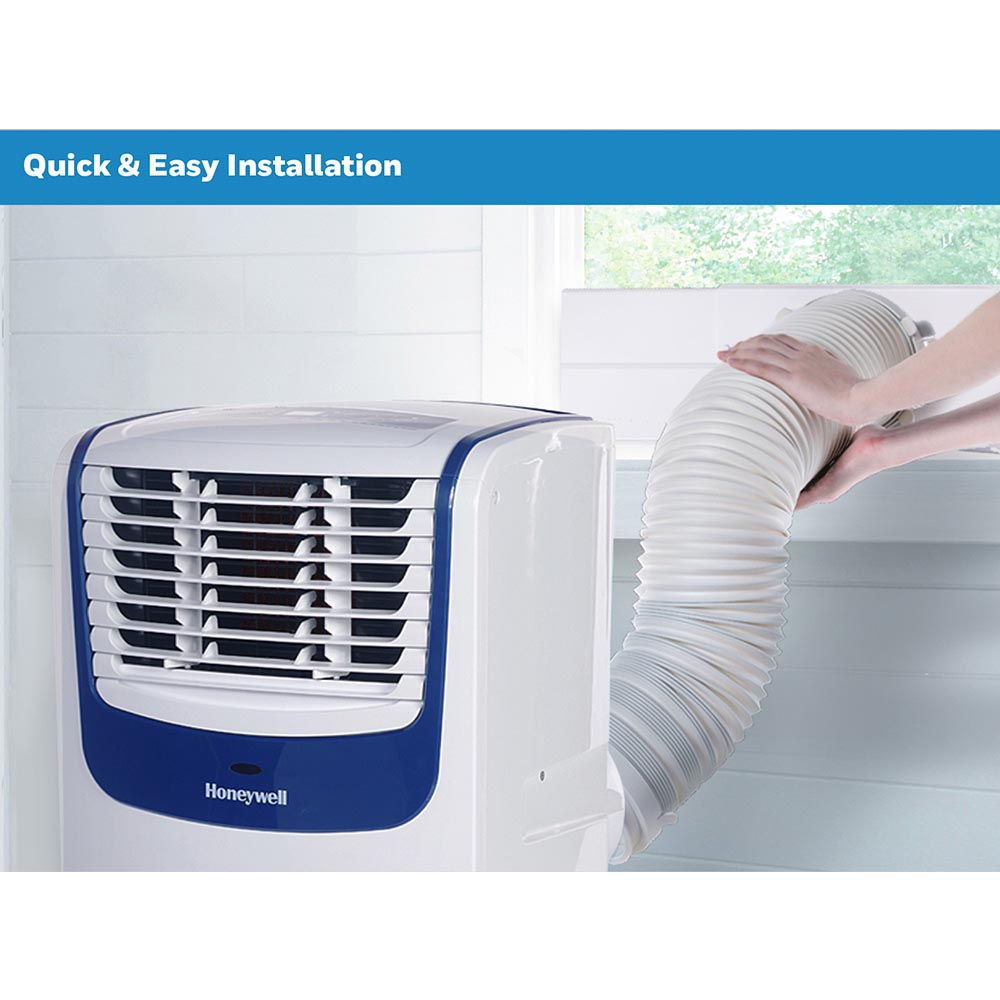 Honeywell MO10CESWB Compact Portable Air Conditioner with Dehumidifier and Fan (White/Blue)