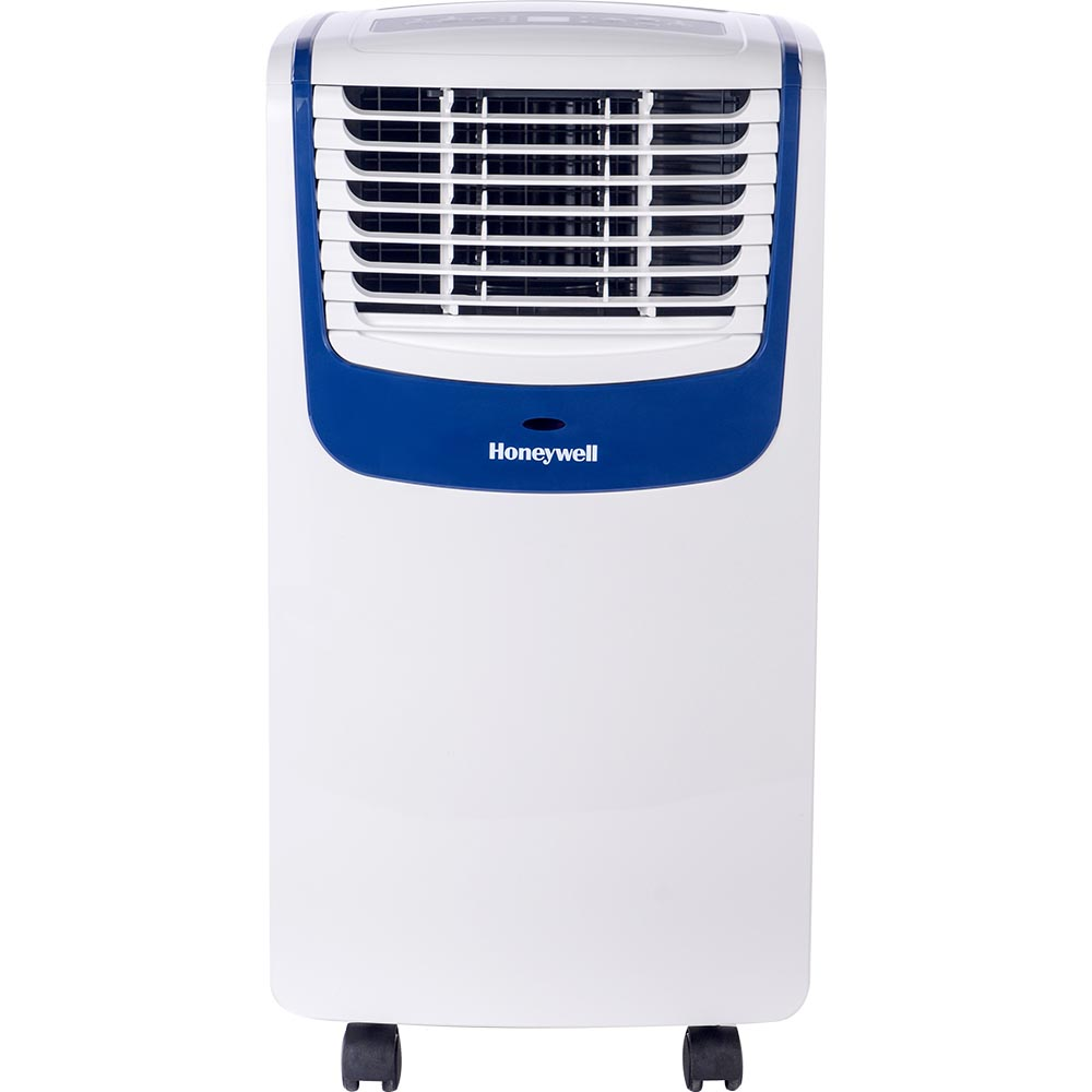 Honeywell MO08CESWB Compact Portable Air Conditioner with Dehumidifier and Fan (White/Blue)