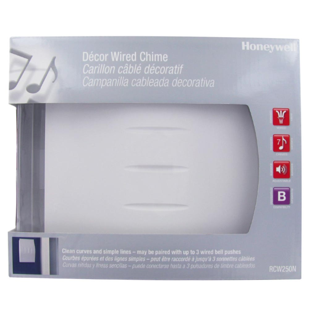 Honeywell Decor Wired Door Chime with White Finish, RCW250N1003/N ...