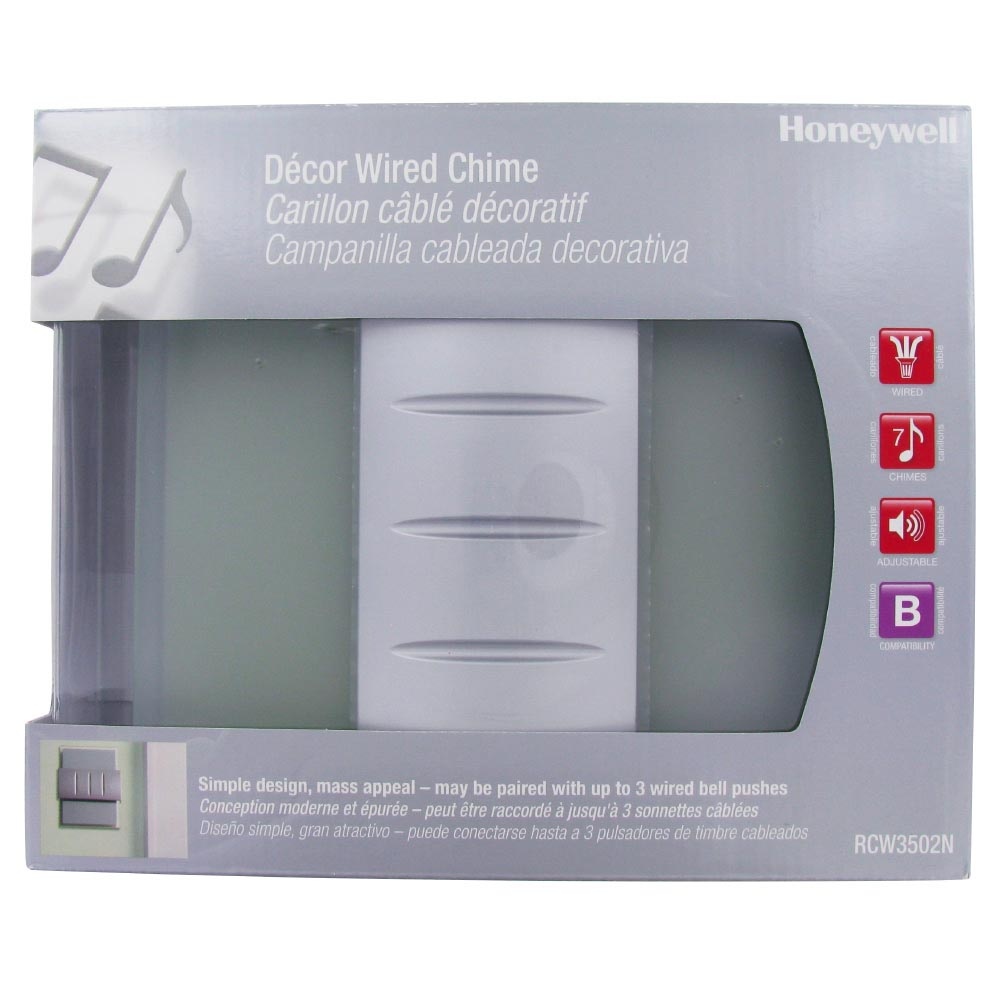 honeywell decor wired door chime with glassmetal design - Doorbell Chime