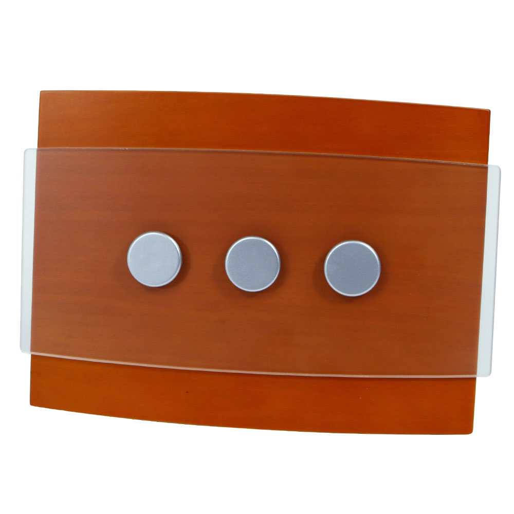 Honeywell Decor Wired Door Chime with Wood/Satin Nickel Design, RCW3503N1002/N