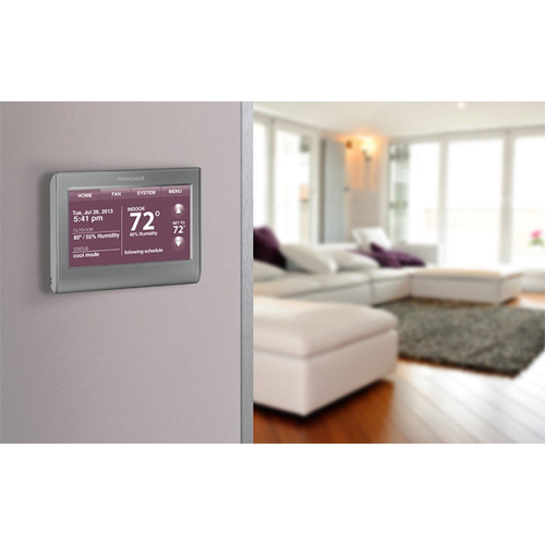 Honeywell RET97A5E Wi-Fi Smart Thermostat, 7 Day Programmable with Color Display