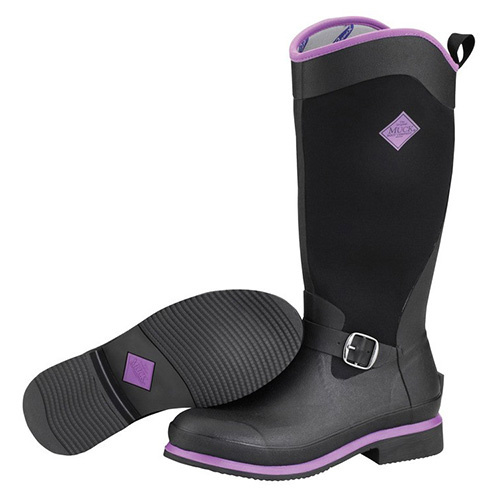 Muck Boots Women S Reign Tall Riding Boot In Black Purple