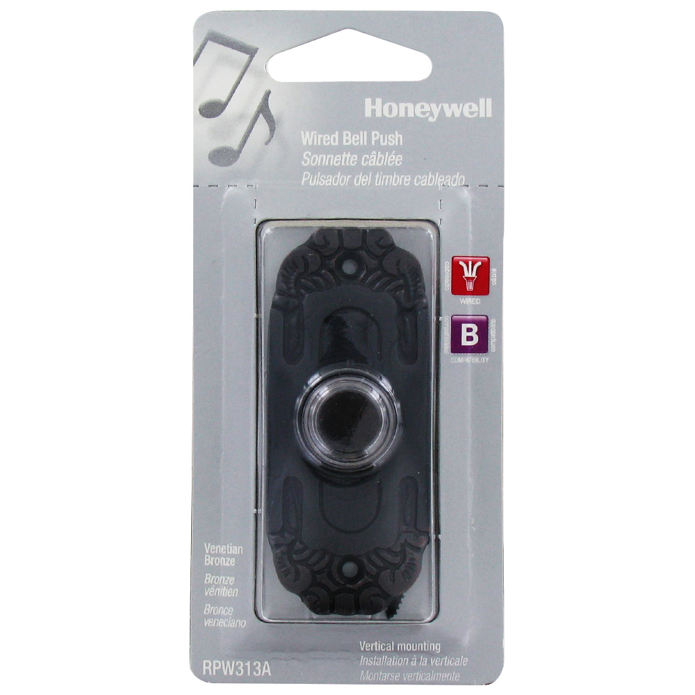 Honeywell Wired Push Button for Door Chime, RPW313A1004/A ...