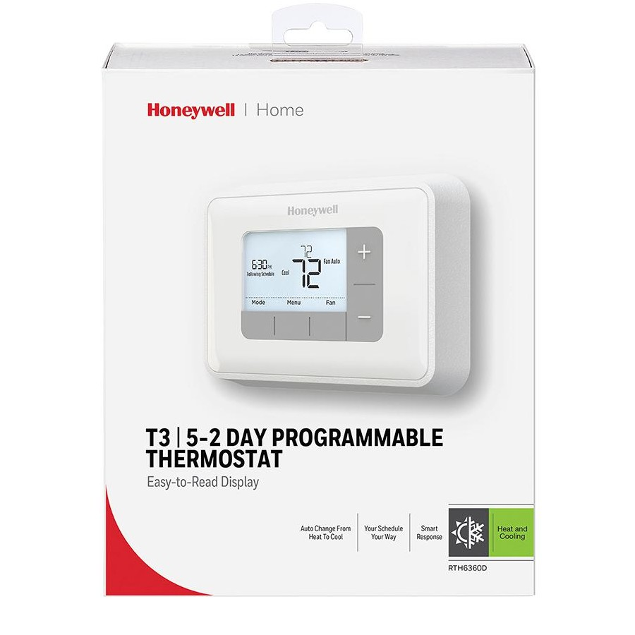 Honeywell Rth6360d 5 2 Day Programmable Thermostat Store Wiring Heat Pump Solutions 10