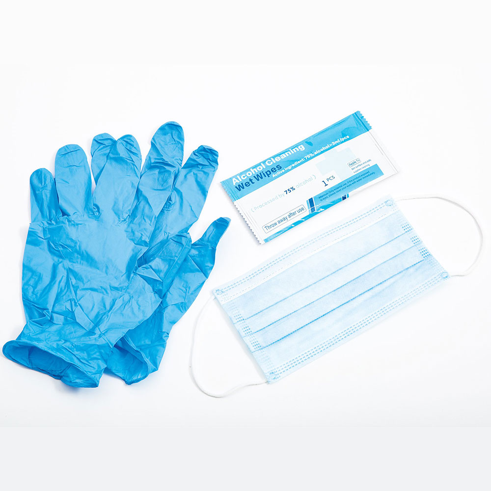 Honeywell Safety Single Pack - Face Mask, Gloves & Cleansing Wipes - RWS-50100