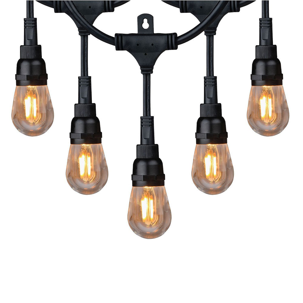 Outdoor String Lights Hardware: Honeywell LED Amber String Light Set, SW136A221110