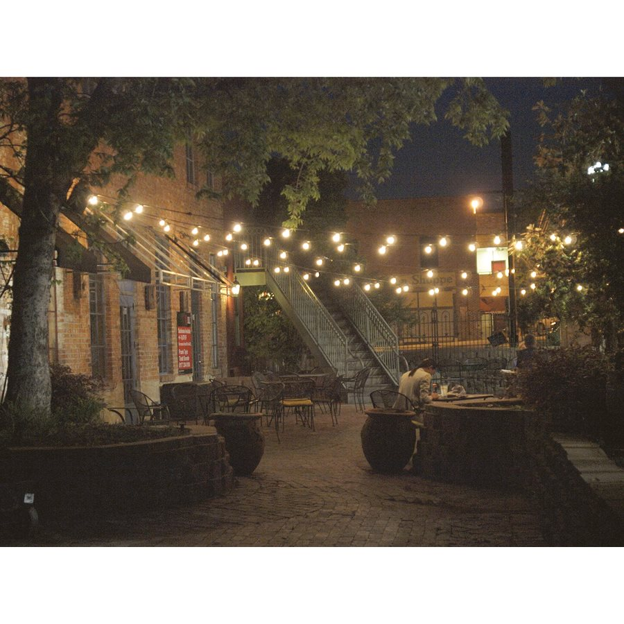 Honeywell 48 Foot Replaceable Filament Style Amber LED String Light Set with Polystyrene Bulb, SW148A221110