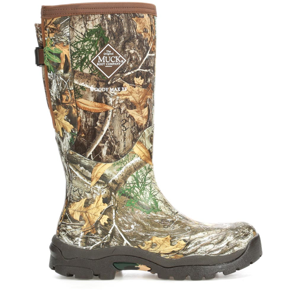 Muck Women's Woody Max Wide Calf Boot, Bark / Realtree Extra - WWM-RTE