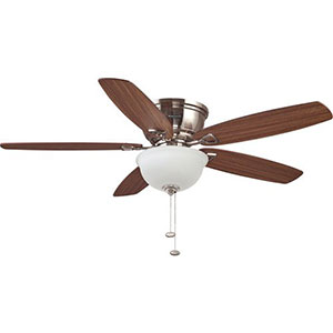 Honeywell Eastover Hugger Ceiling Fan, Brushed Nickel, 52 Inch - 10207