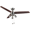 Honeywell Wicker Park Ceiling Fan, Satin Nickel, 48 Inch - 10268