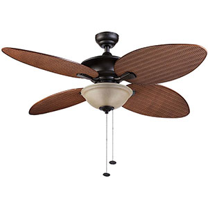 Honeywell Sunset Key Outdoor & Indoor Ceiling Fan, Bronze, 52 Inch - 10288