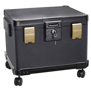 Honeywell 1106W Fire & Waterproof File Chest and Wheel Cart (0.60 cu ft.)