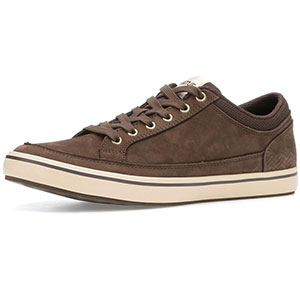 XTRATUF 22401 Chumrunner Nubuck Leather Deck Shoes, Chocolate