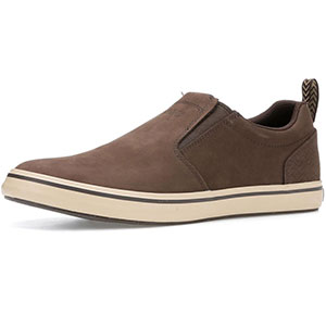 XTRATUF 22501 Sharkbyte Nubuck Leather Deck Shoes, Chocolate