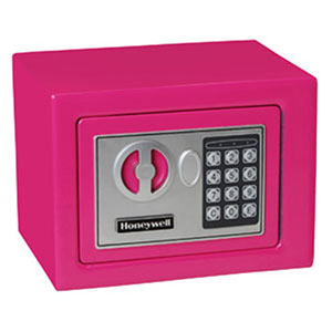 Honeywell 5005P Digital Steel Compact Security Safe (.17 cu') - Pink