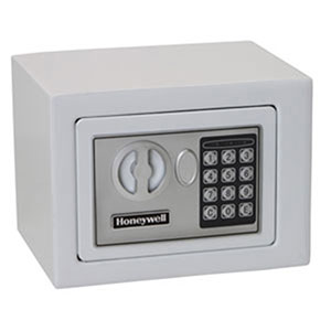 Honeywell 5005W Digital Steel Compact Security Safe (.19 cu') - White