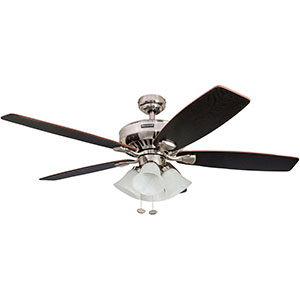 Honeywell Birnham Indoor Ceiling Fan, Brushed Nickel Finish, 52 Inch - 50191