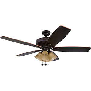 Honeywell Birnham Ceiling Fan, Oil Rubbed Bronze Finish, 52 Inch - 50192