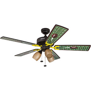 Honeywell Touch Down Ceiling Fan, Matte Black Finish, 48 Inch - 50205