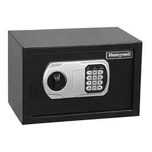 Honeywell 5101DOJ Steel Security Safe-Digital Lock (.27 cu'), All Black (5101)