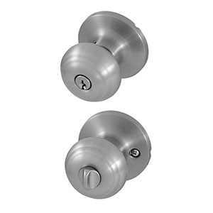 Honeywell Classic Entry Door Knob, Satin Nickel, 8101301