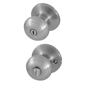 Honeywell Classic Privacy Door Knob, Satin Nickel, 8101302